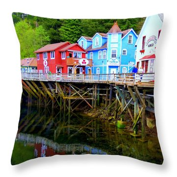Creek Street 3 Throw Pillow
