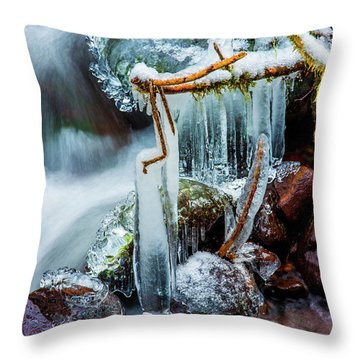 Creekside Icicles Throw Pillow