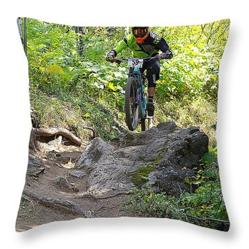 Creekside Rock #59 Throw Pillow by Matt Helm
