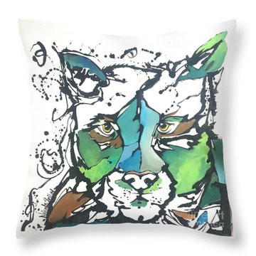 Throw Pillow featuring the painting Creep by Nicole Gaitan