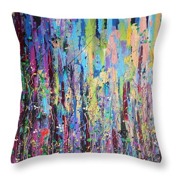 Creeping Beauty - Large Work Throw Pillow