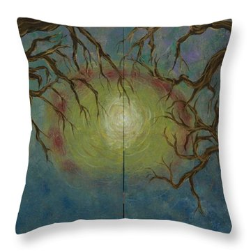 Creeping Throw Pillow by Jacqueline Athmann