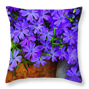 Creeping Phlox 1 Throw Pillow