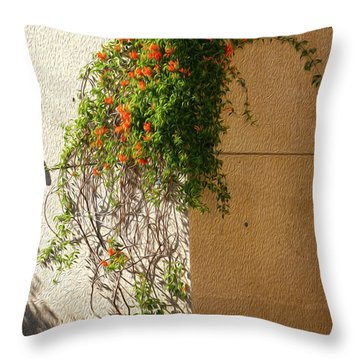 Creeping Plants Throw Pillow