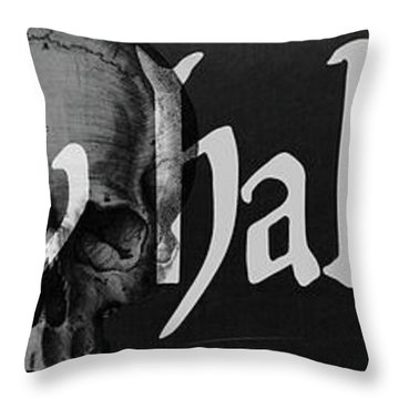 Creepy Halloween Throw Pillow by Mindy Sommers