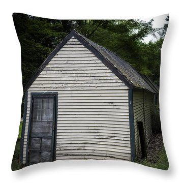Creepy Old Cabins Throw Pillow