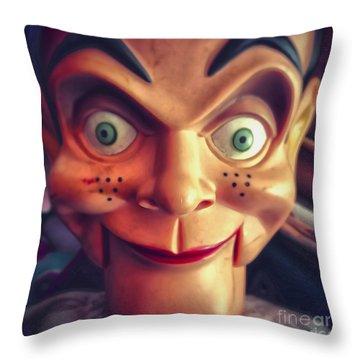 Creepy Puppet Throw Pillow