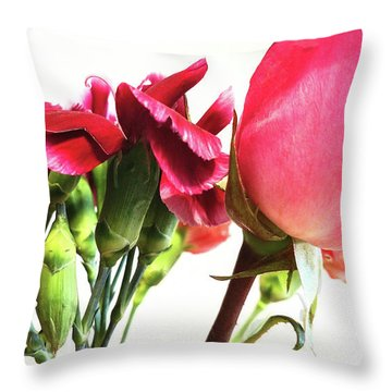 Creepy-red Flowers Throw Pillow