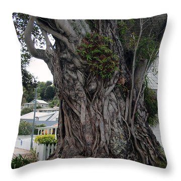 Creepy Tree Throw Pillow