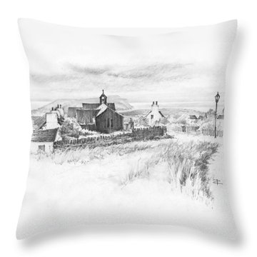Cregneish Sketch Throw Pillow