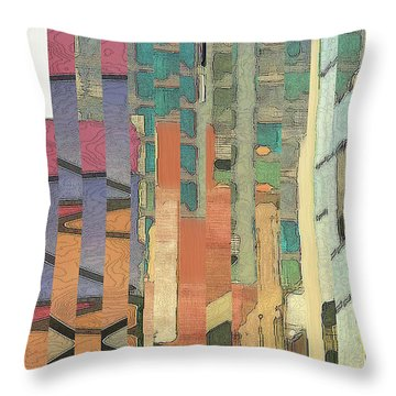 Throw Pillow featuring the digital art Crenellations by Gina Harrison