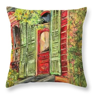 Creole Painted Lady In The Marigny Throw Pillow