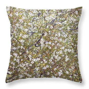 Creosote Bush Throw Pillow