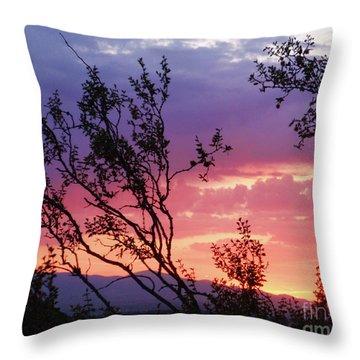 Creosote Sky Throw Pillow