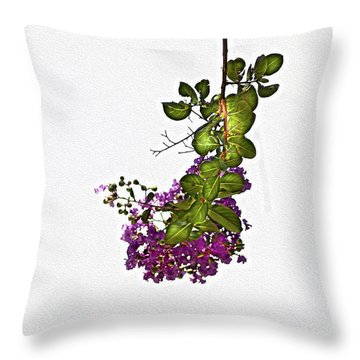 Crepe Myrtle In Oil Throw Pillow