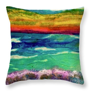 Crepe Paper Sunset Throw Pillow