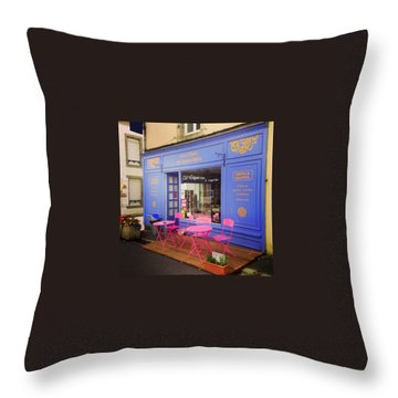 Creperie At France Throw Pillow