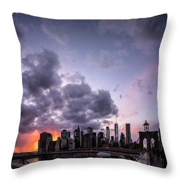 Crepsucular Nights Throw Pillow