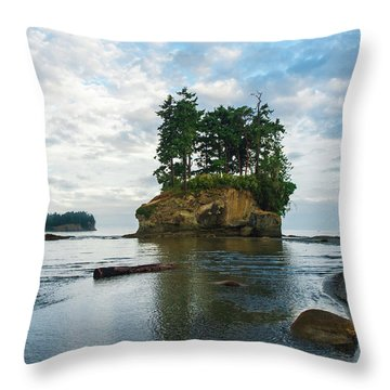 Crescent Beach Throw Pillow