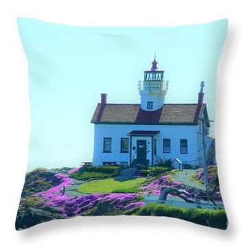 Crescent City Lighthouse Throw Pillow