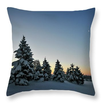 Crescent Dawn Throw Pillow