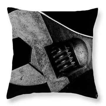 Throw Pillow featuring the photograph Adjustable by Douglas Stucky