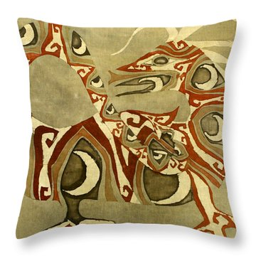 Crescent Dragon Throw Pillow