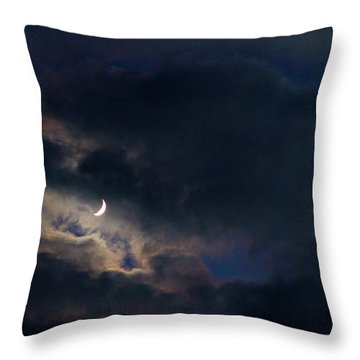 Crescent Moon In Hocking Hilla Throw Pillow