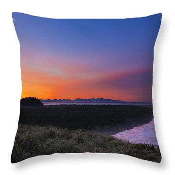Crescent Moon Sunrise Throw Pillow
