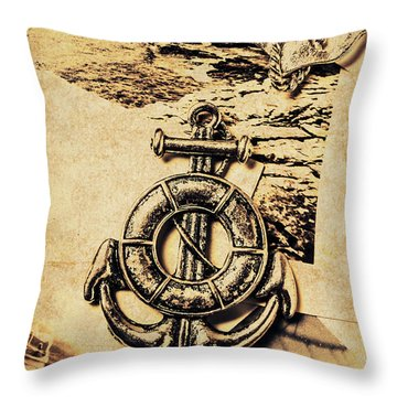 Crest Of Oceanic Adventure Throw Pillow
