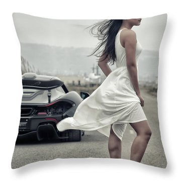 Throw Pillow featuring the photograph #cresta #p1 #print by ItzKirb Photography