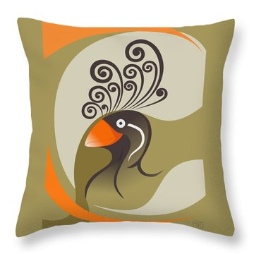 crestedAUKLET Throw Pillow