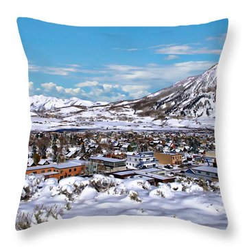 Crested Butte Panorama Throw Pillow