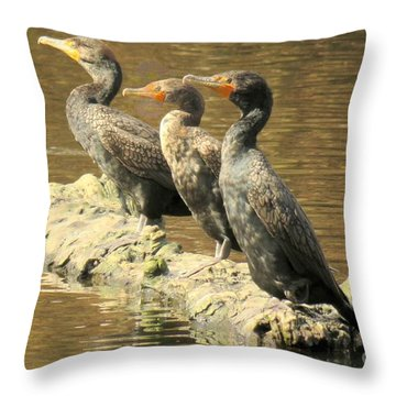 Crested Trio Throw Pillow