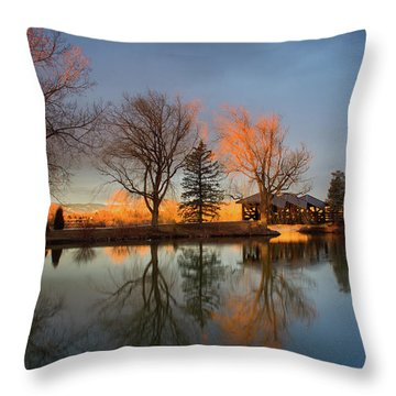 Throw Pillow featuring the photograph Cresting Sunlight by John De Bord