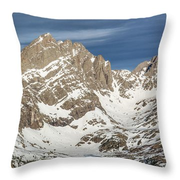 Throw Pillow featuring the photograph Crestone View by Aaron Spong