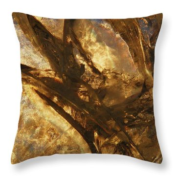 Throw Pillow featuring the photograph Crevasses by Sami Tiainen