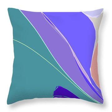 Throw Pillow featuring the digital art Crevice by Gina Harrison
