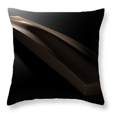Cricket Bat Dark Throw Pillow