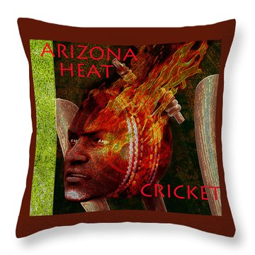 Cricket Poster Throw Pillow
