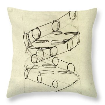 Cricks Original Dna Sketch Throw Pillow