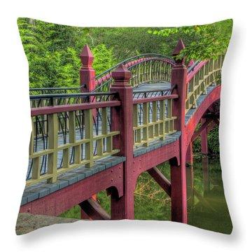 Crim Dell Bridge Summer Throw Pillow