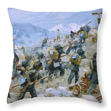 Crimean War And The Battle Of Chernaya Throw Pillow by Italian School