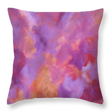Crimson - Violet - Fire Throw Pillow by John Keaton