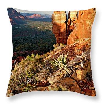 Crimson Cliffs 08-064 Throw Pillow