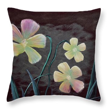 Crimson Flower Throw Pillow