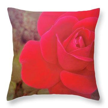 Crimson Velvet Throw Pillow