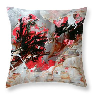 Crimson Lake  Throw Pillow