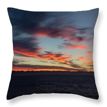 Crimson Morning Throw Pillow