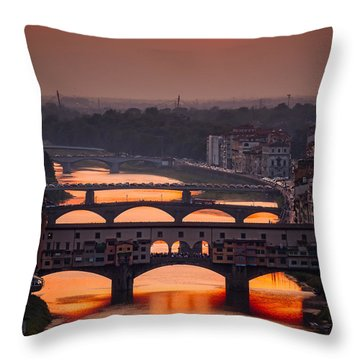 Crimson River Throw Pillow